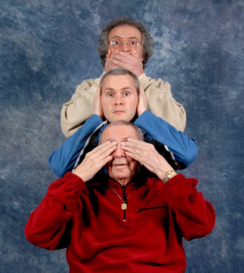 3 gerações imagens de stock