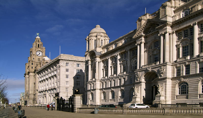 3 graces liverpool royalty free stock photography