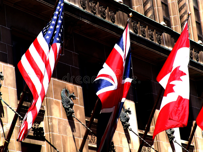 Download 3 Great Flags stock photo. Image of nations, peace, england - 36484