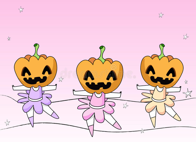3 griezelige Ballerina's royalty-vrije illustratie
