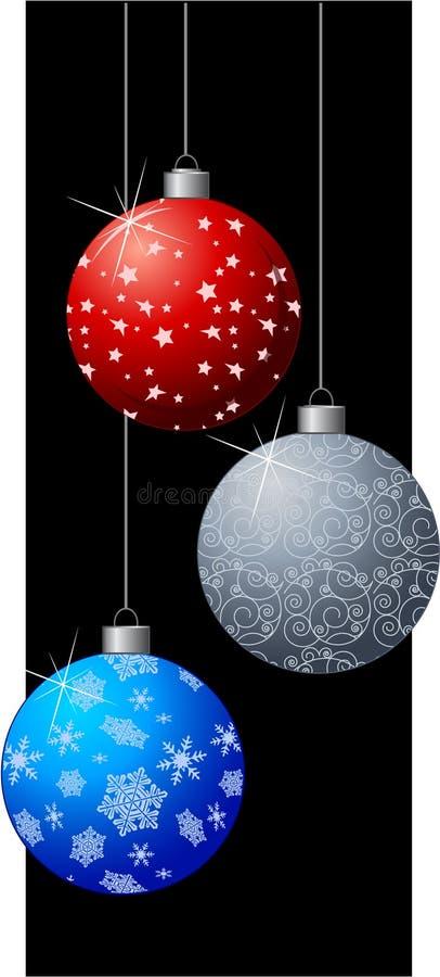 Free 3 Hanging Christmas Balls Stock Image - 3601741