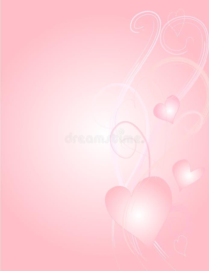 3 hjärtor paper swirlsvektorn stock illustrationer