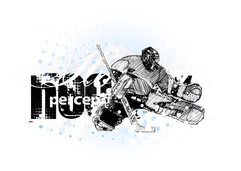 3 hokeja lód royalty ilustracja