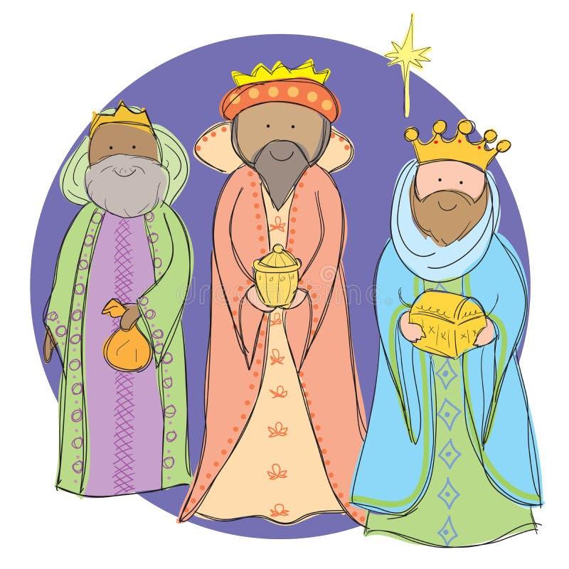 3 homens sábios ilustração stock