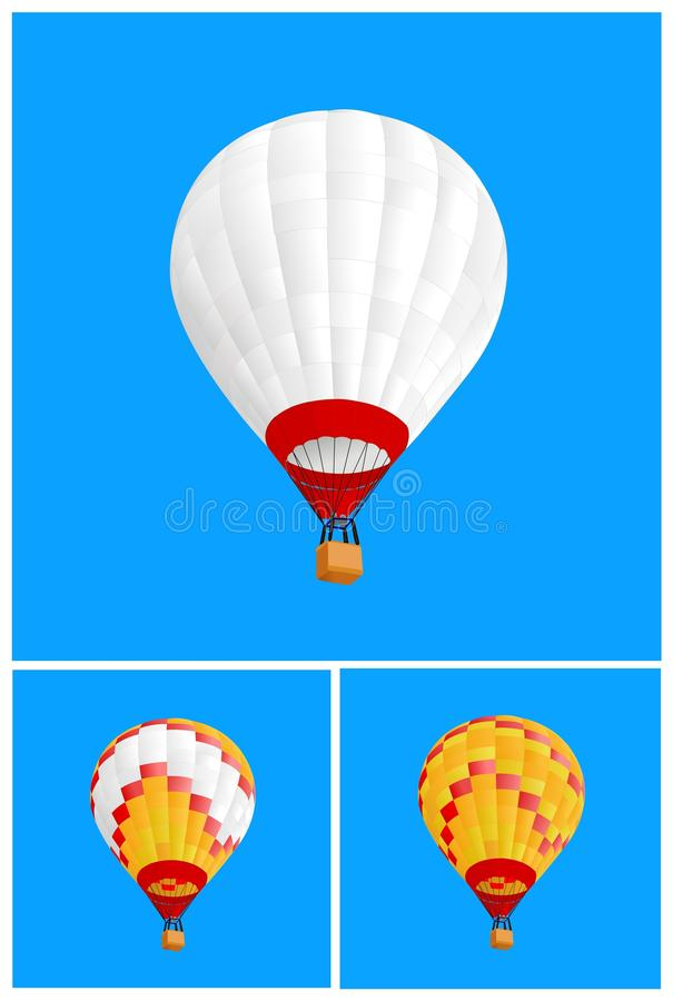 Download 3 hot air ballon stock vector. Illustration of cloud - 13666465