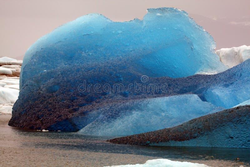 3 icebergs de l'Alaska image stock