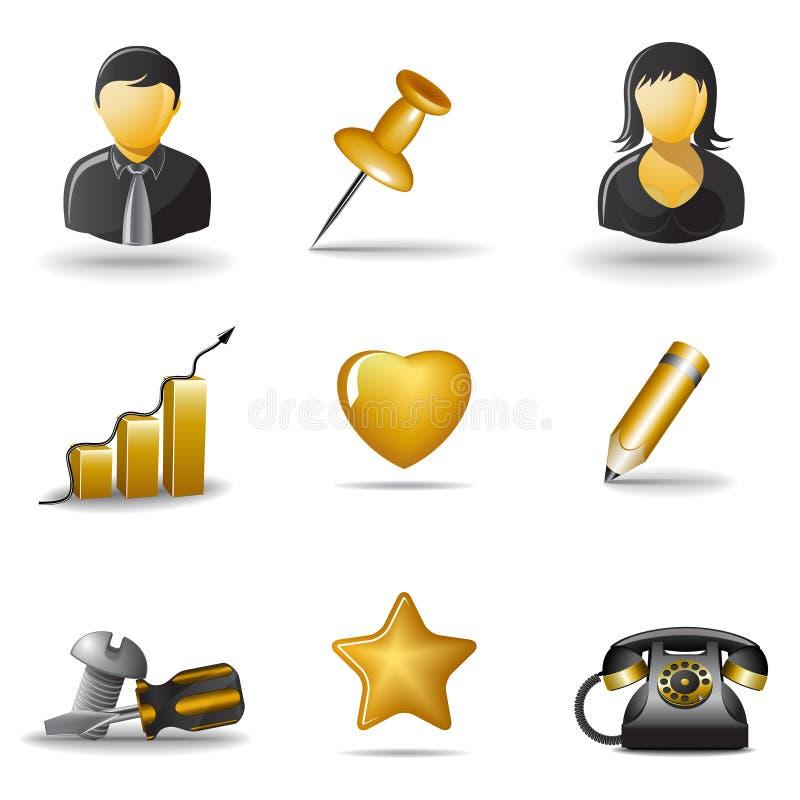3 ikony ustawiają sieć