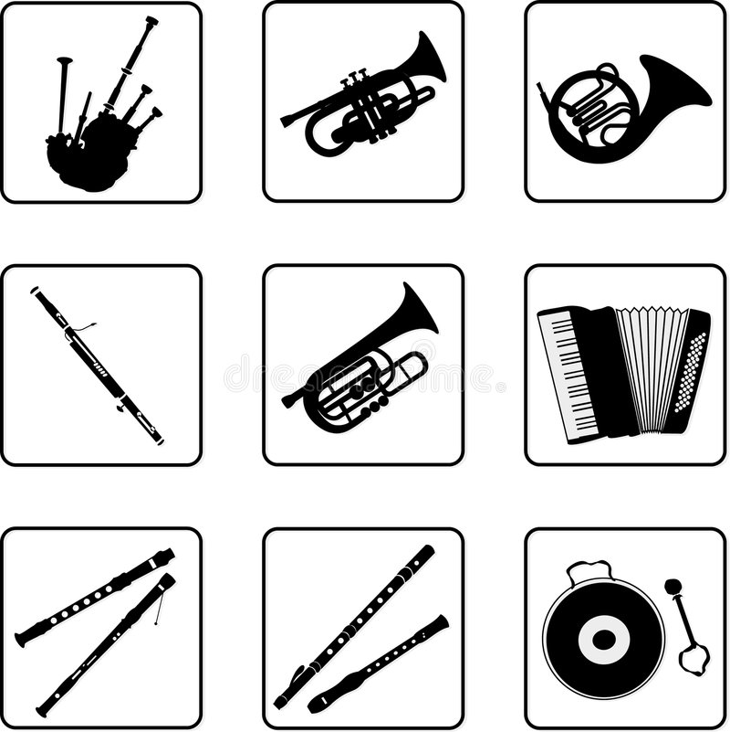 3 instrument muzyczny ilustracji