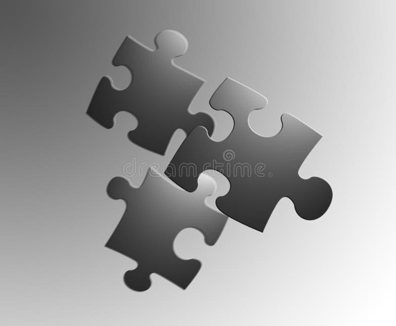3 jigsaw ilustracji
