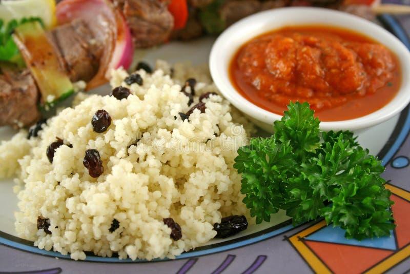 3 kebabs говядины стоковые фото