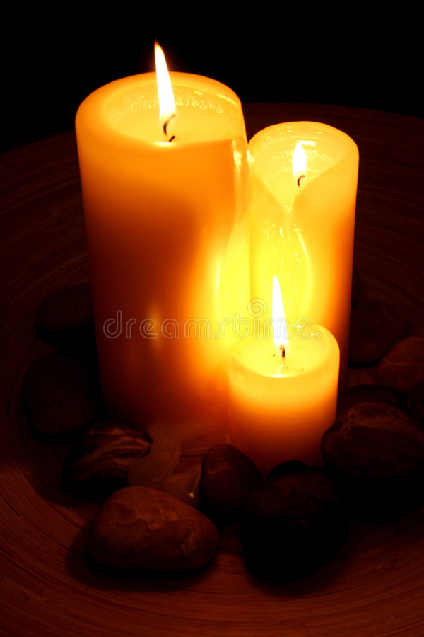3 Kerzen lizenzfreies stockfoto