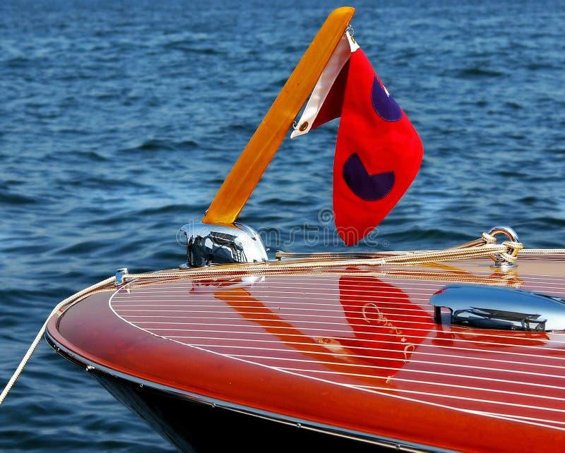 3 klasycznego prędkość łodzi drewniana obraz stock