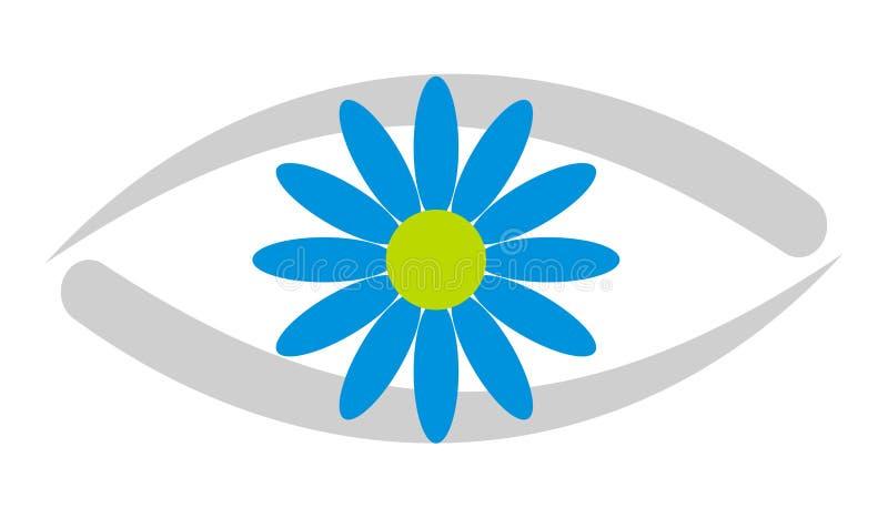 3 kliniki w oko logo ilustracji
