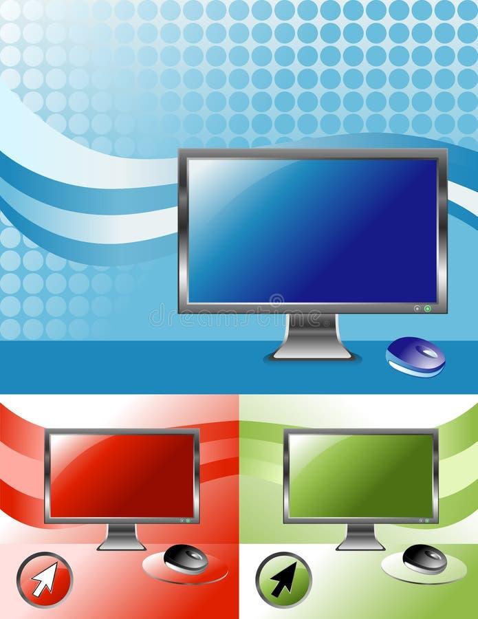 3 kolorów ekran komputerowy televison ilustracja wektor