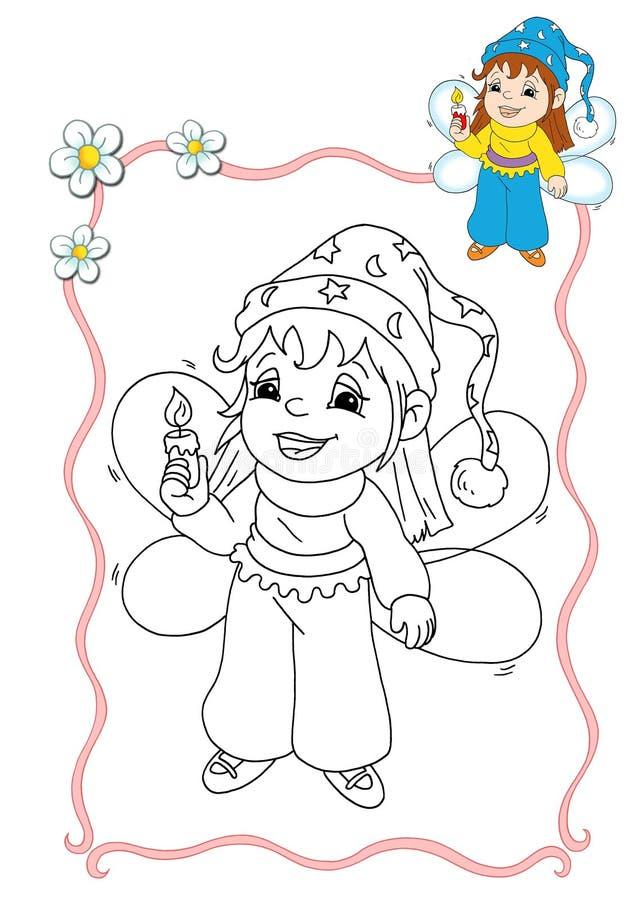 3 kolorystyki książkowa czarodziejka royalty ilustracja
