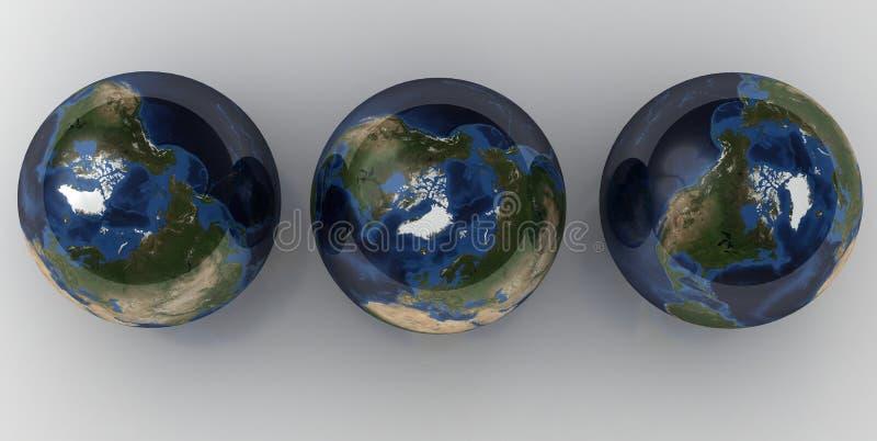3 kuli ziemskiej ilustracja wektor