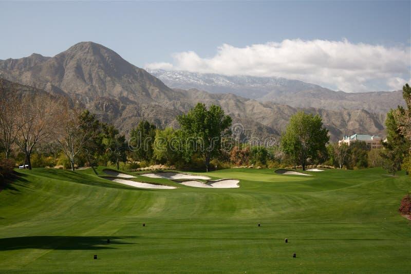 3 kursu golfowych palmy normy wiosna zdjęcie royalty free