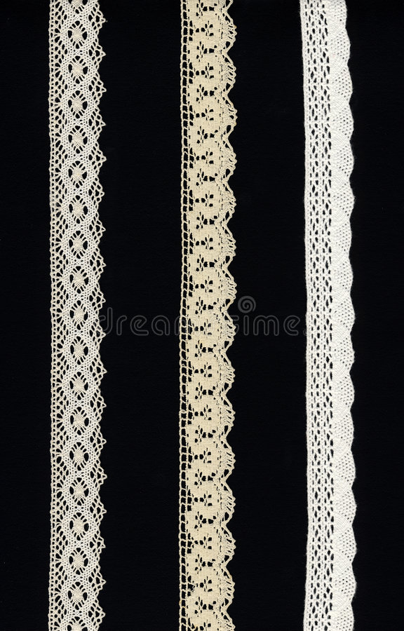 3 Lace Borders Stock Photos