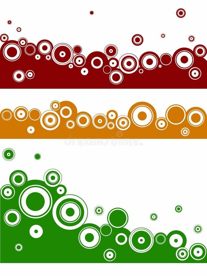3 Landschaftselemente - Kreise vektor abbildung