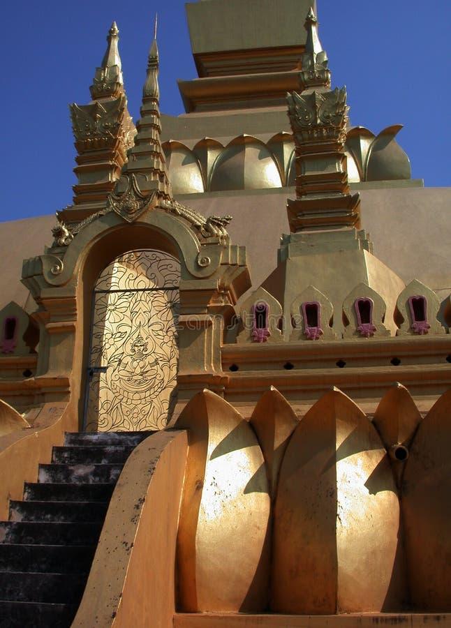 3 Laos stupa fotografia royalty free