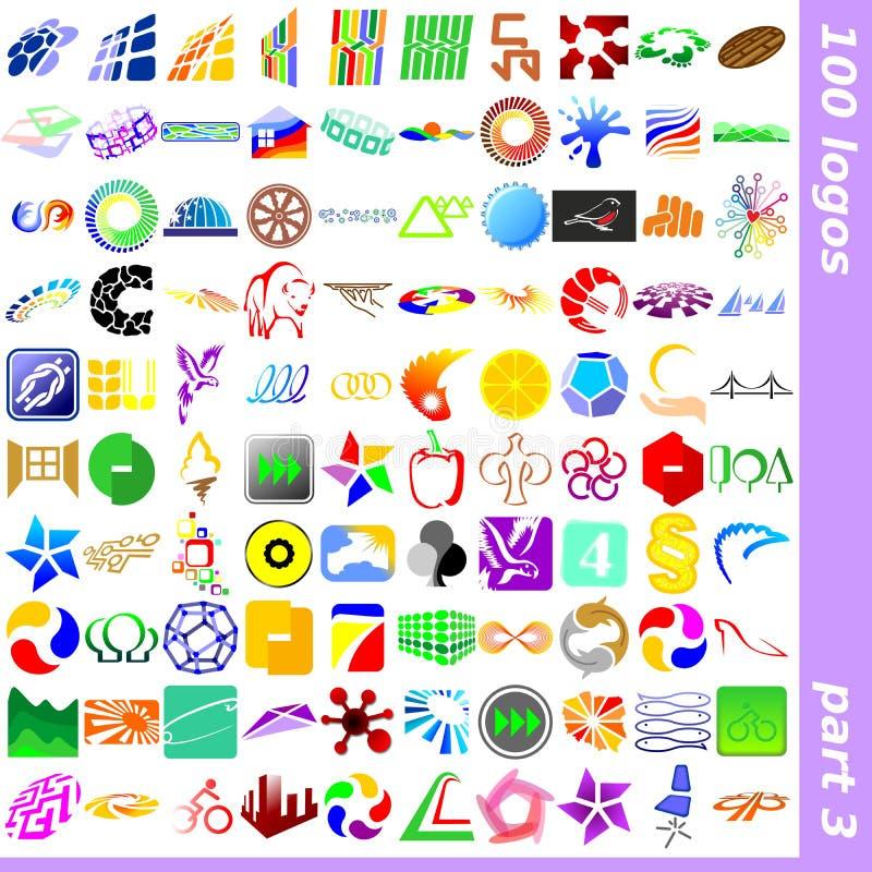 3 logotecken royaltyfri bild