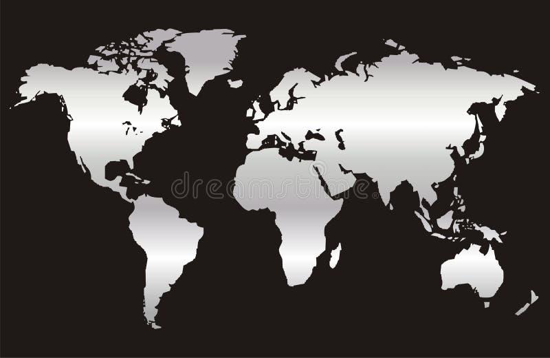 3 mapy świata royalty ilustracja