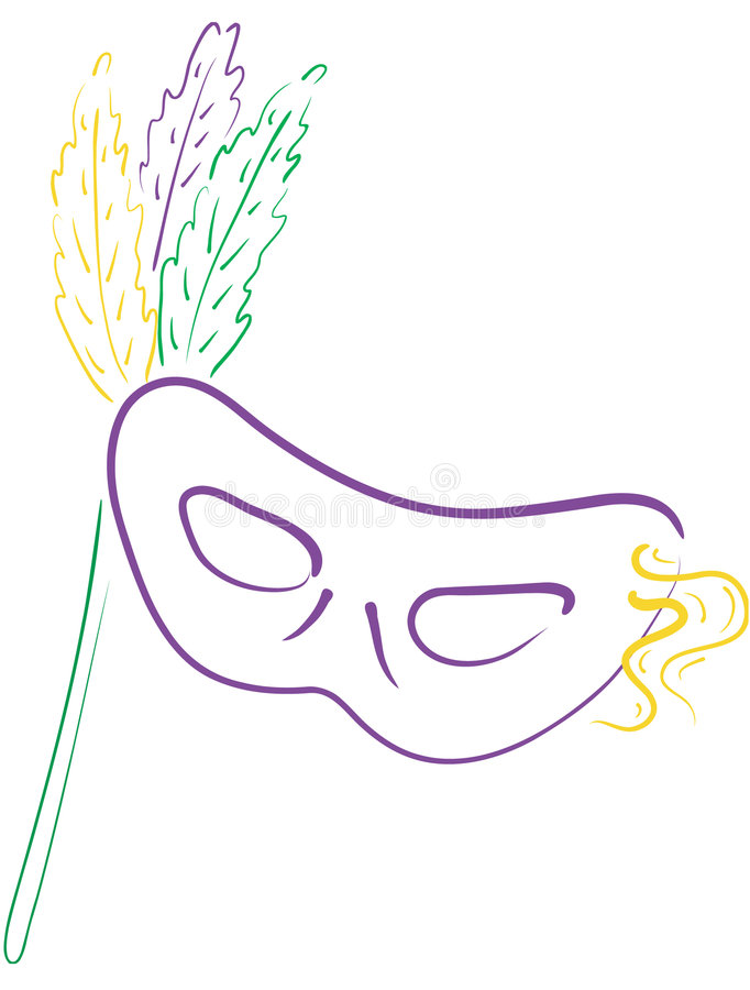 3 maska mardi gras royalty ilustracja