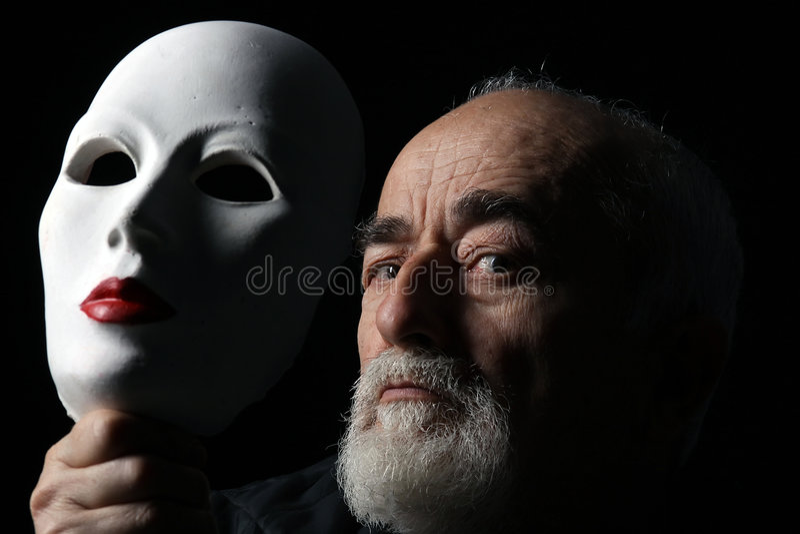 3 maskowy portret fotografia stock