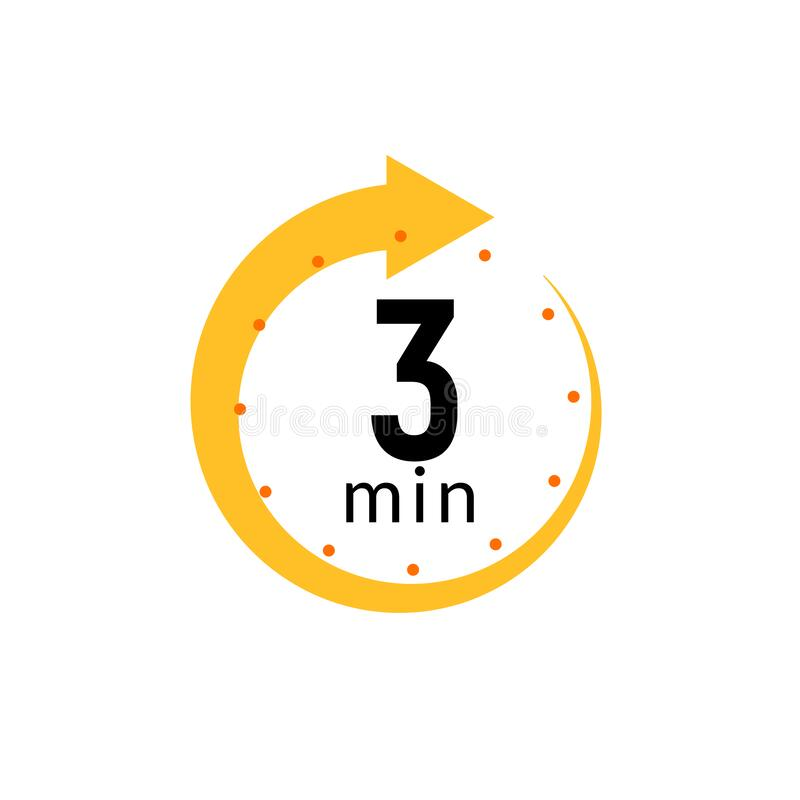 Free 3 Minutes Clock Quick Number Icon. 3min Time Circle Icon Royalty Free Stock Images - 191228729