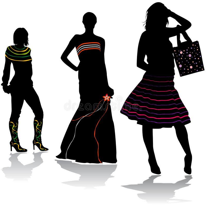 3 moda projektów royalty ilustracja