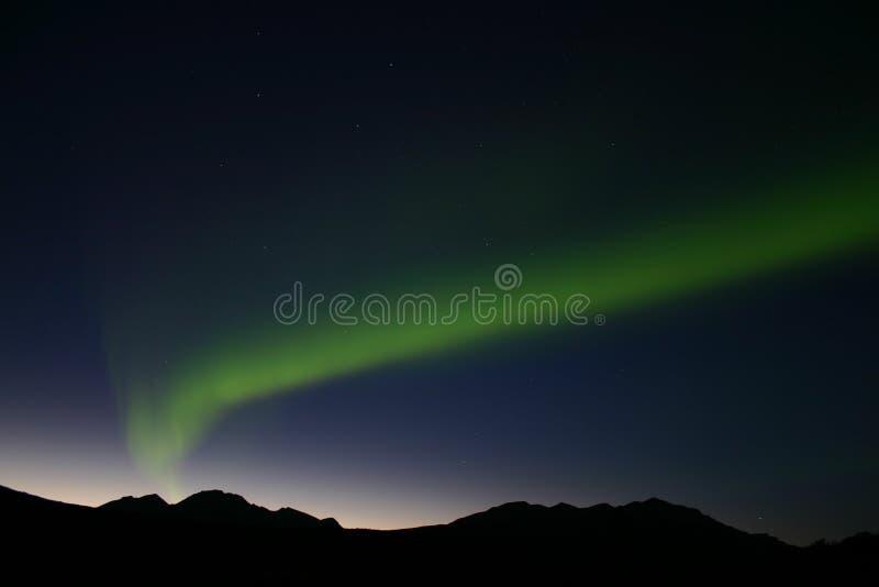 3 nordliga lampor fotografering för bildbyråer