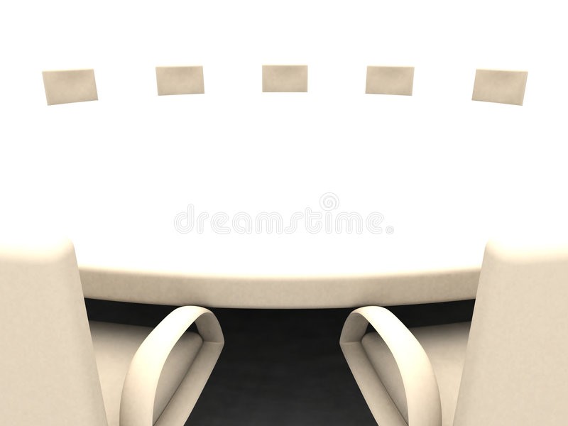 3 okrągłego stołu royalty ilustracja