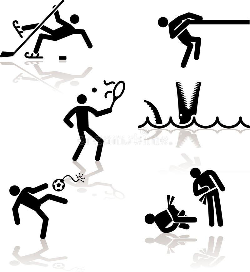 3 olimpijski gier humoru ilustracji