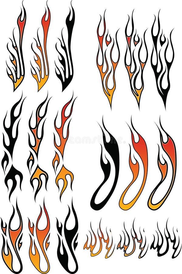 3 płomienia royalty ilustracja