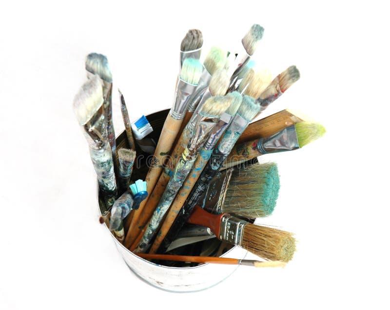 3 Paintbrushes Royaltyfri Bild