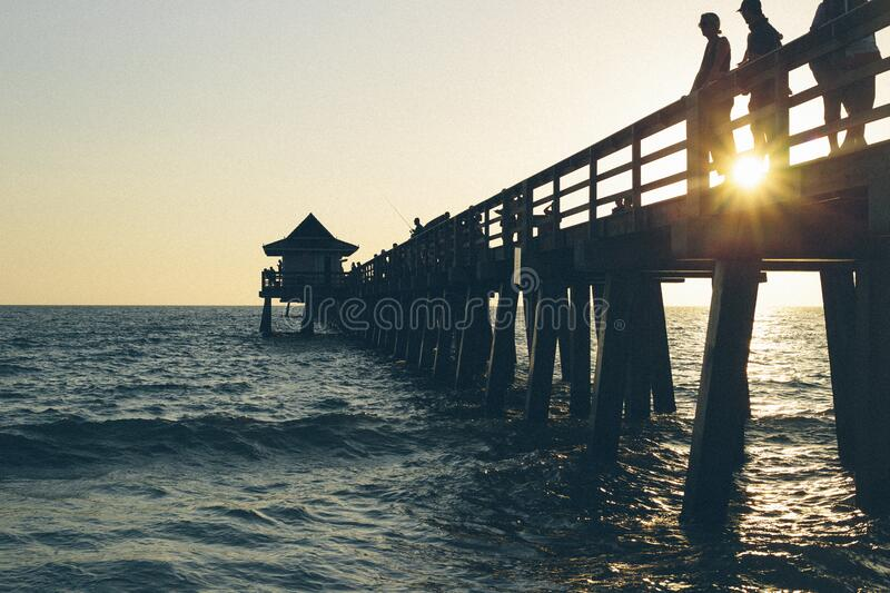 3 Person Standing On Pier Free Public Domain Cc0 Image