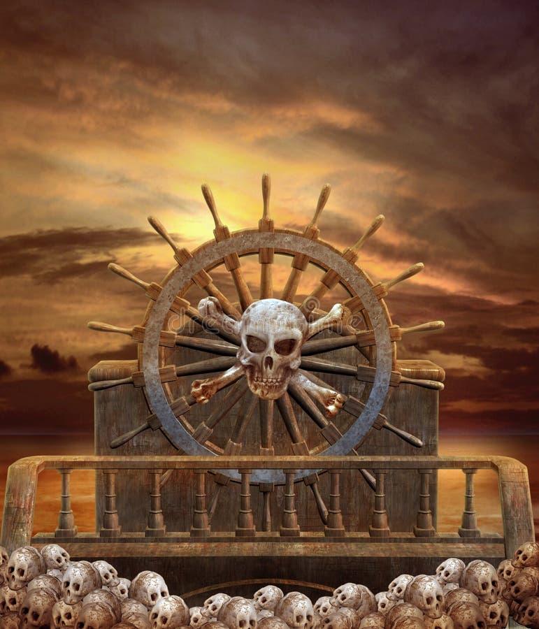 3 pirata statek royalty ilustracja