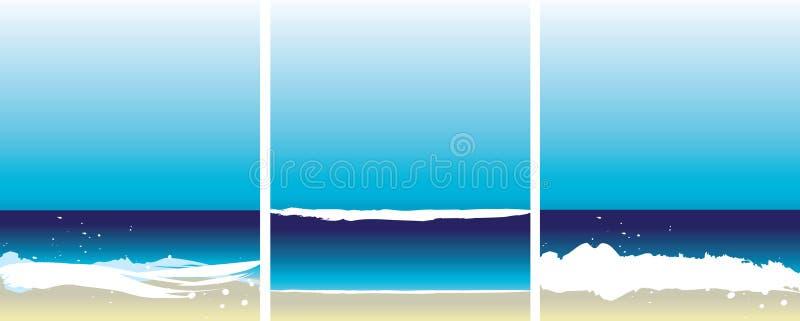 3 plażowy set ilustracja wektor
