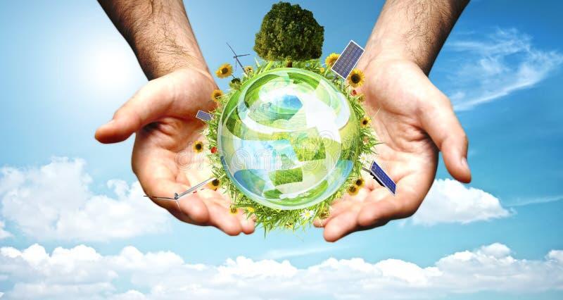 3 pojęcia czysty środowisko zdjęcie stock