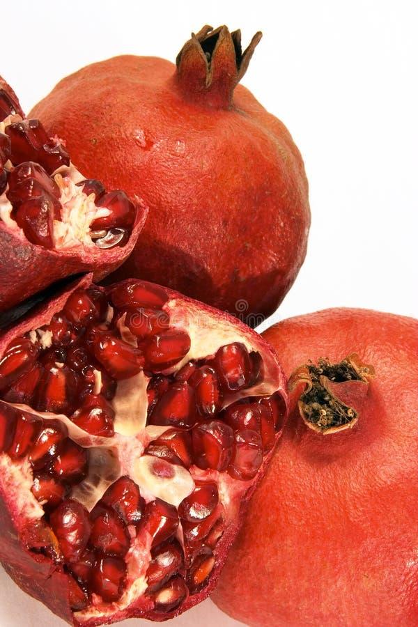 3 pomegranates royaltyfri foto