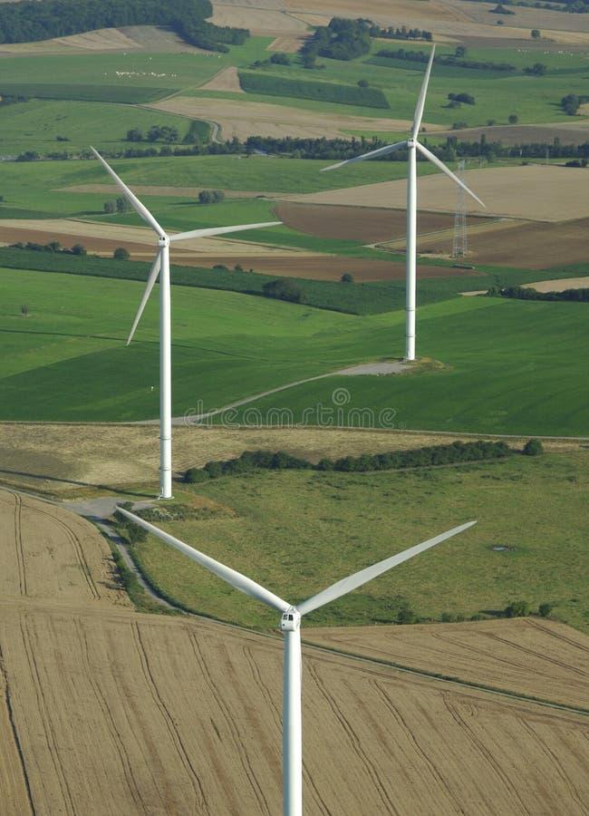 3 powietrzny krótkopędu turbina wiatr fotografia stock