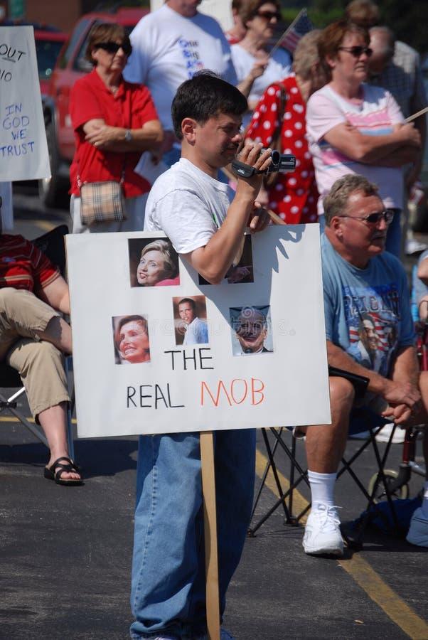 3 protestujący obraz stock