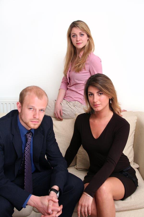 3 przedsiębiorcy drużyny obrazy royalty free