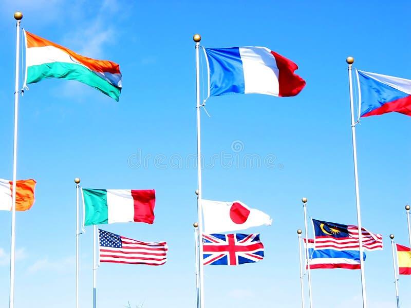 3 przedsiębiorstw międzynarodowych obraz royalty free