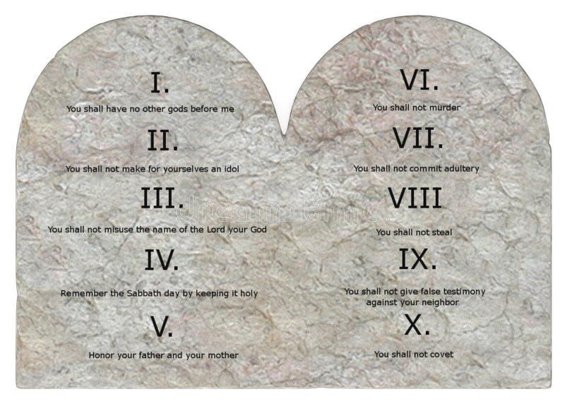 3 przykazania dziesięć ilustracja wektor
