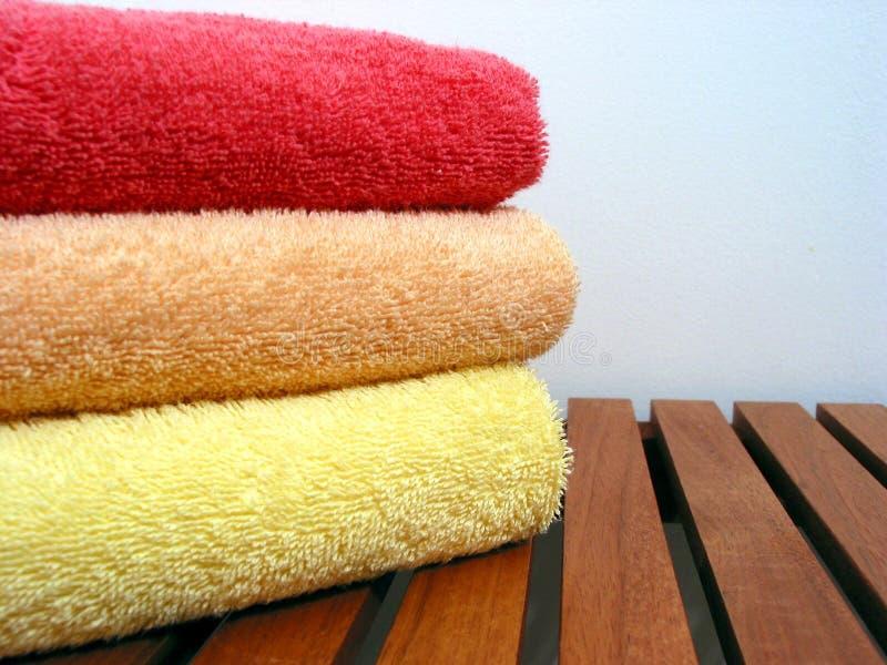 3 ręcznik kominowego fotografia stock