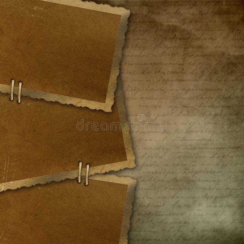 3 ramowy stary papier royalty ilustracja
