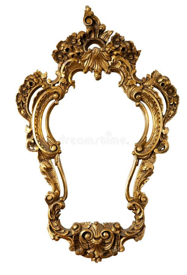 3 ramowy złoty lustro żadny stary zdjęcie royalty free