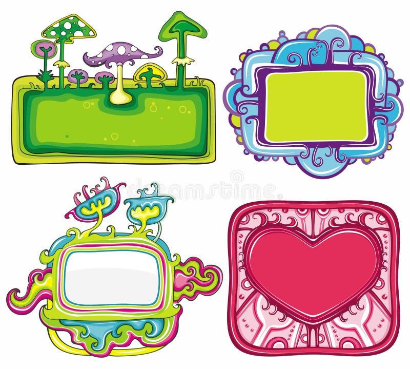 3 ramserie stock illustrationer