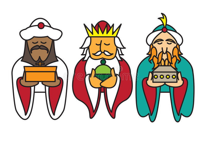 3 re che sopportano i regali royalty illustrazione gratis